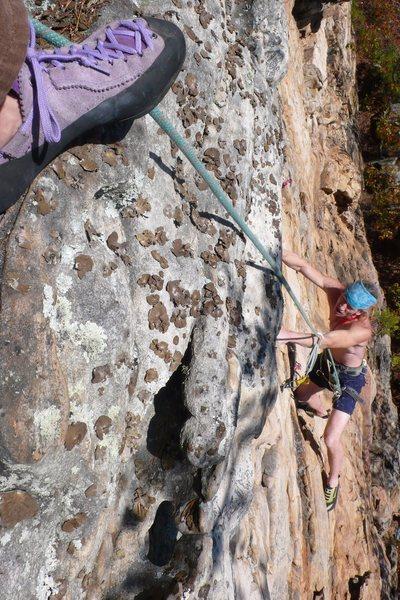 Rock Climbing Photo: Last little steep part.