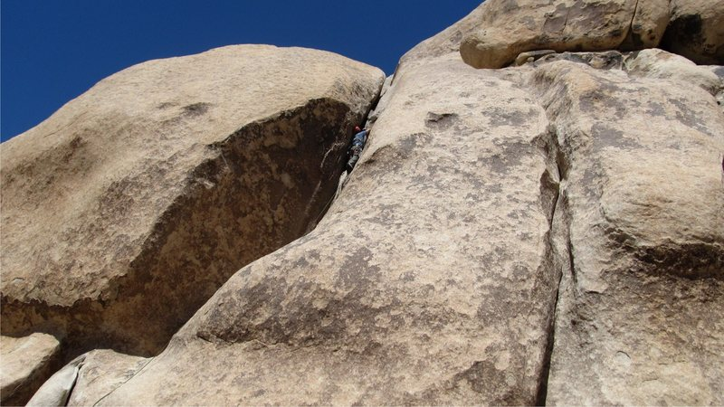 Rock Climbing Photo: Me leading the first pitch of Mike's Books.  photo...