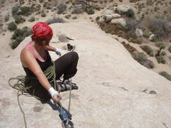 Rock Climbing Photo: Sadie bringing Myong up the second pitch of Mike's...