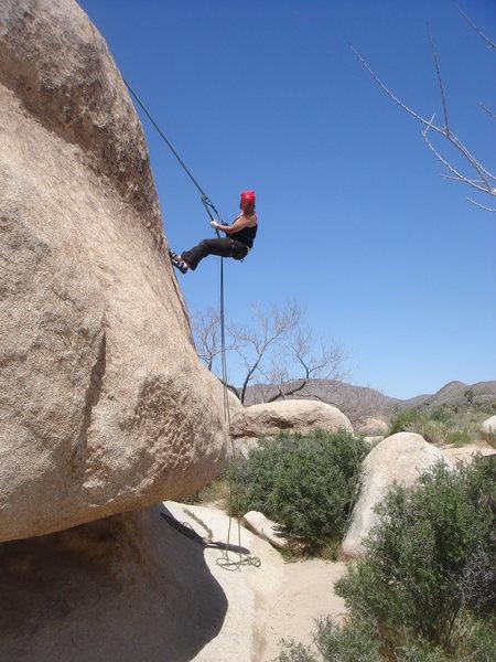 Rock Climbing Photo: Sadie rapping Mike's Books.