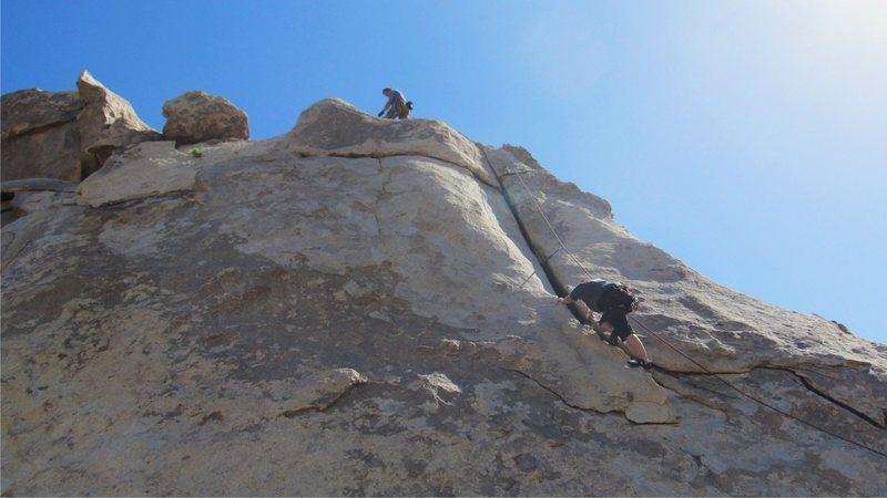 Sadie climbing Granny Goose.<br> <br> photo by Myong Moon