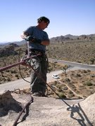 Rock Climbing Photo: Me belaying at the top of Granny Goose.  photo by ...