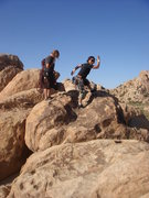 Rock Climbing Photo: The girls on the descent from the Left Hand of Dar...
