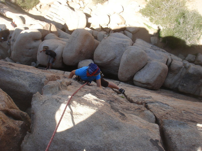 Rock Climbing Photo: Another shot of Sadie on Almost Vertical.