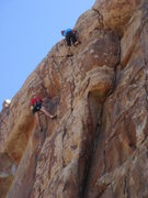 Rock Climbing Photo: Sadie near the top of Count on your Fingers.