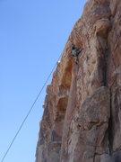 Rock Climbing Photo: Myong scoping the roof of No Calculators Allowed.