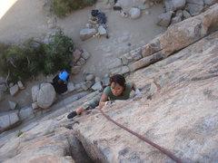Rock Climbing Photo: Myong climbing Butterfingers Make Me Horny.