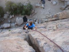 Rock Climbing Photo: Sadie on Butterfingers.