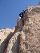 Rock Climbing Photo: Sadie on Beginner's Three, her first ever trad lea...
