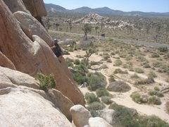 Rock Climbing Photo: Sadie leading Beginner's Three.