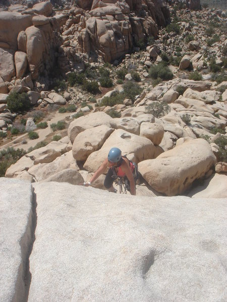 Rock Climbing Photo: Sadie finishing her lead on the Bong.