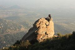 Rock Climbing Photo: Matt topping out Big Horn