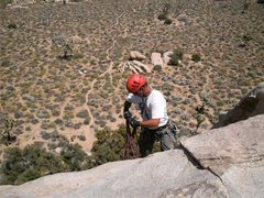 Rock Climbing Photo: Me setting to rap from Playhouse Rock.  photo by S...