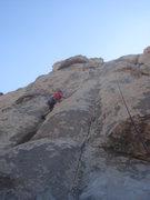 Rock Climbing Photo: John climbing Curtain Call.