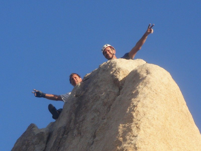 Jason and I at the top of Sail Away.  Last route of the week, what a great trip!<br> <br> photo by Myong Moon