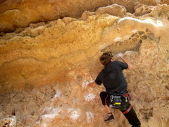 Rock Climbing Photo: starting the abyss...