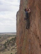 Rock Climbing Photo: Ben working the crimps of the Extremist.