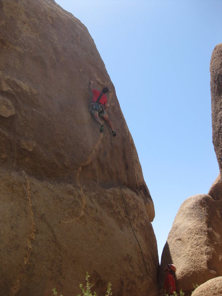 Rock Climbing Photo: It's red tee-shirt day!