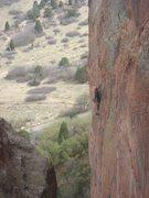Rock Climbing Photo: Logan Berndt leading Beat Me Up, Scotty.