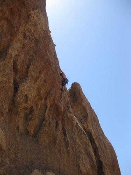 Rock Climbing Photo: Andy cruising the crux on Dreamworld.