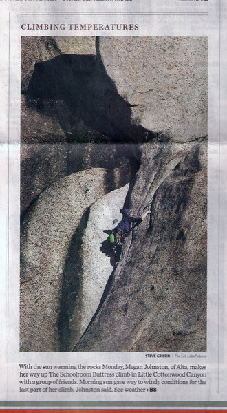 climbing in Little Cottonwood Canyon, Utah!