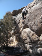 Rock Climbing Photo: Todd Ipsen warmin' up on sunny day in March.