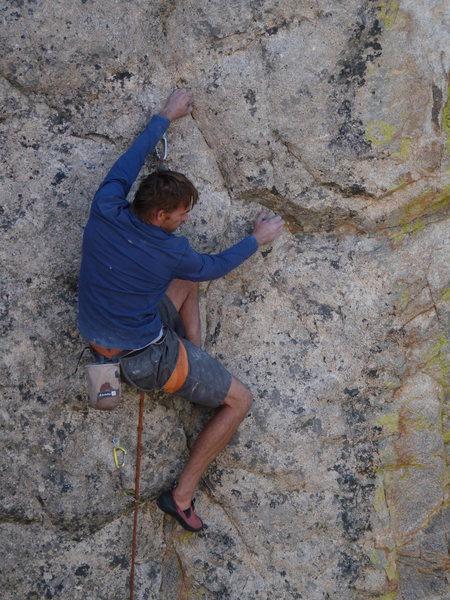 Rock Climbing Photo: Technical?  Joe Kreidel getting into some funky bu...