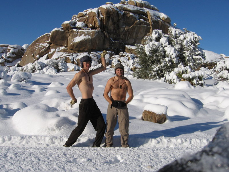Winter climbing in Joshua Tree?