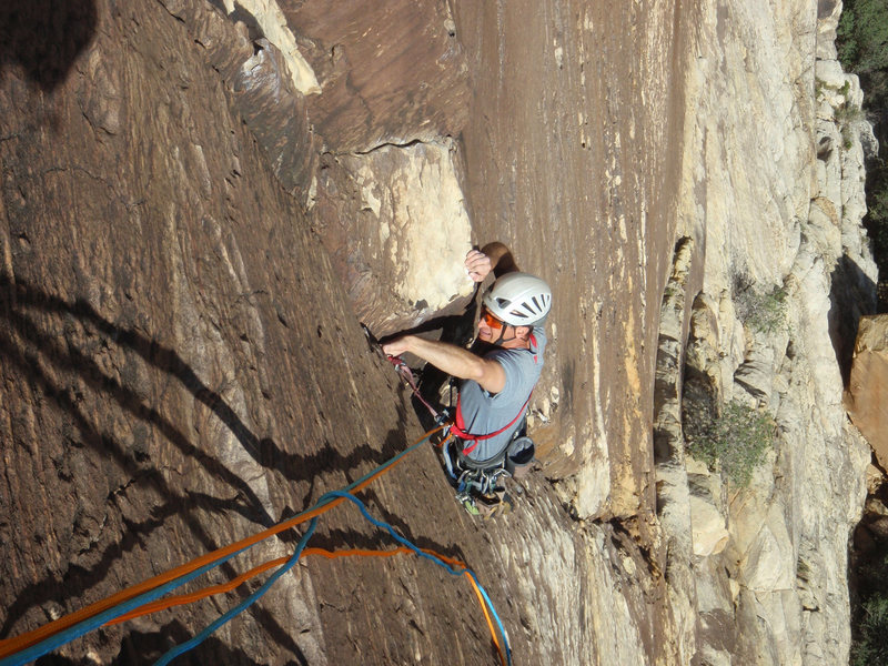 Rock Climbing Photo: Pitch 1 - beautiful crack climbing
