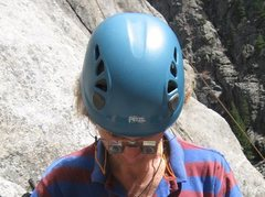 Rock Climbing Photo: Michael Gehmayer's belay glasses