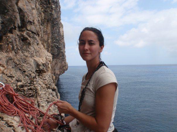 Rock Climbing Photo: Belaying on Throwin the Tortuga in Cayman Brac