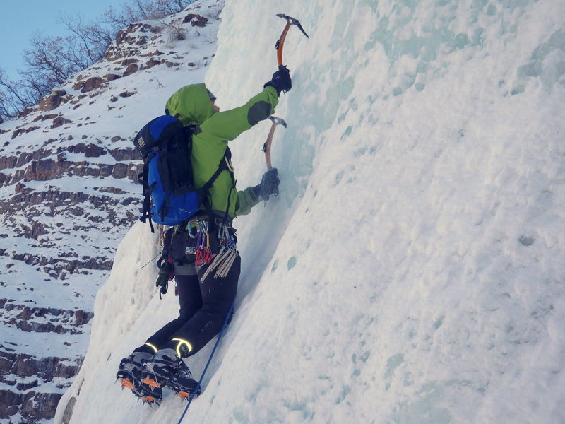 Rock Climbing Photo: Climbing Ice with the Valdez