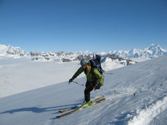 Rock Climbing Photo: Skiing in Wrangle/St. Elias NP with a cinched down...