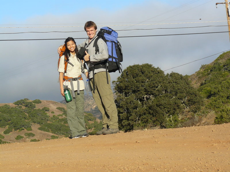 Rock Climbing Photo: Backpacking on Catalina Island with the Mrs. and m...