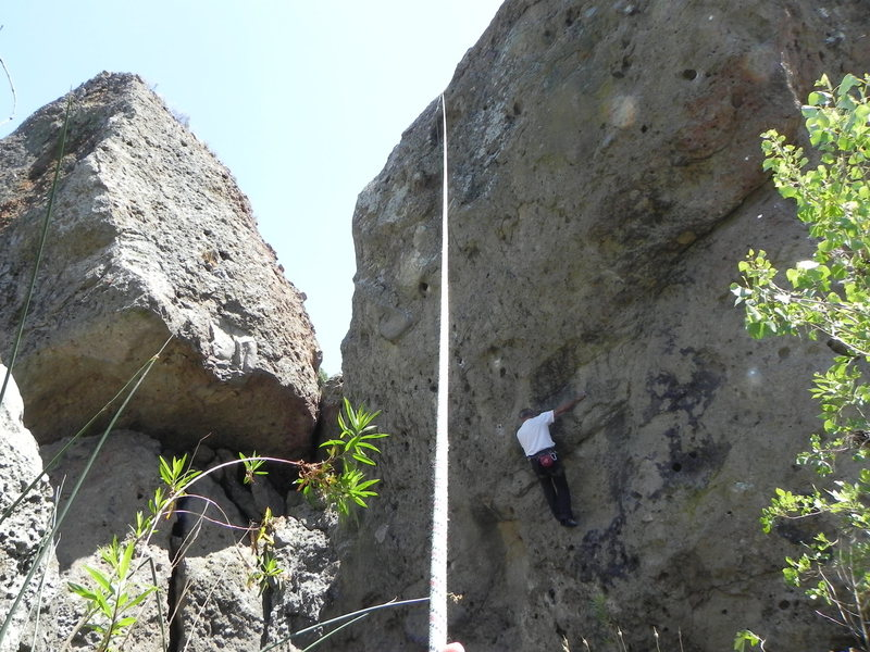 Rock Climbing Photo:   mike newheart F.A picture.