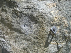 Rock Climbing Photo: The new bolt, moved about 8 inches to the right of...