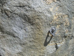 Rock Climbing Photo: The patch job.