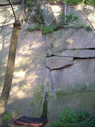 Rock Climbing Photo: Unknown Problem V0/1 Start on two decent crimps, t...