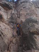 Rock Climbing Photo: Myong leading Awethu.