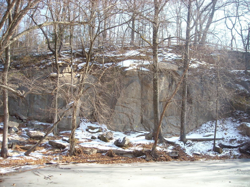 Just a small portion of the cliffs, taken during December 2010.
