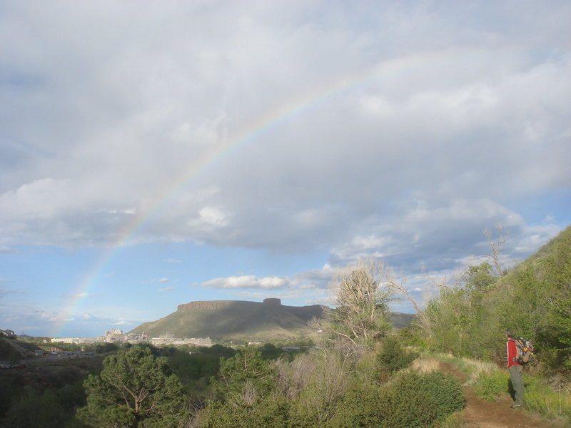 Rainbow and South Table Mountain.