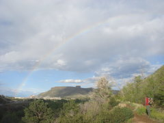 Rock Climbing Photo: Rainbow and South Table Mountain.