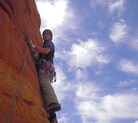 Rock Climbing Photo: Early on the crux pitch.