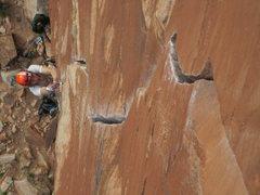 Rock Climbing Photo: Kurt starting the thin hands of crack attack