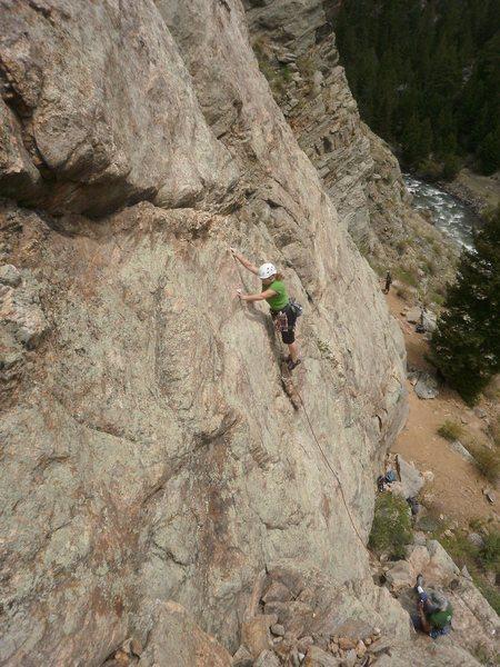 Rock Climbing Photo: Cruising up Skimbleshanks.