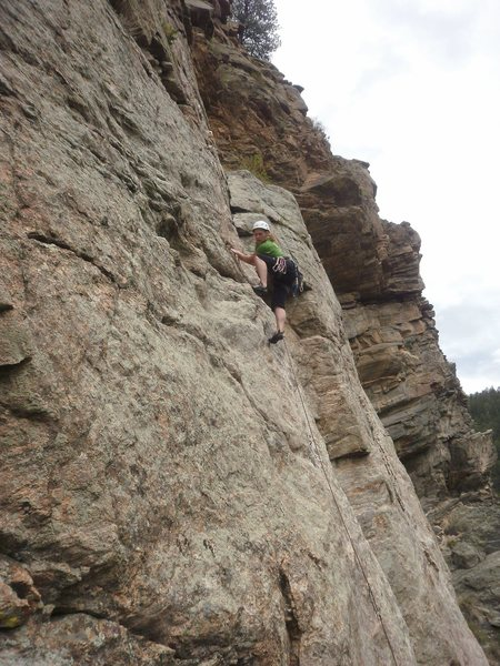 Rock Climbing Photo: Getting higher....