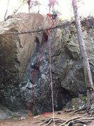 Rock Climbing Photo: Pivot Point Topo