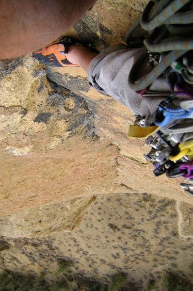 Rock Climbing Photo: Zebra/Zion top of 3rd pitch. Rad route!