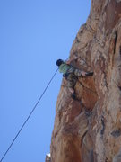 Rock Climbing Photo: Myong pulling the Roof on No Calculators Allowed.....