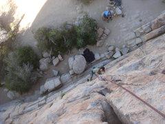 Rock Climbing Photo: Myong starting up Butterfingers Make Me Horny.